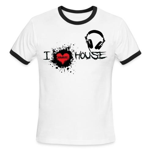 I LOVE HOUSE RINGER TEE - Men's Ringer T-Shirt