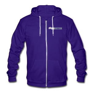 DiggNation American Apparel Hoodie/Unisex - Unisex Fleece Zip Hoodie by American Apparel