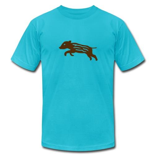 shirt baby wild boar hunter hunting forest animals nature pig rookie shoat - Men's Fine Jersey T-Shirt
