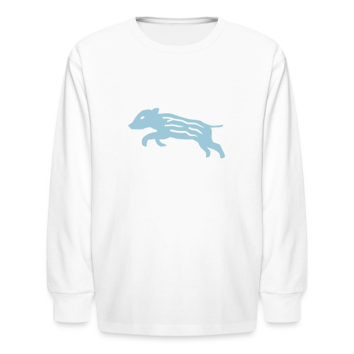 shirt baby wild boar hunter hunting forest animals nature pig rookie shoat - Kids' Long Sleeve T-Shirt