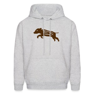 hoodie baby wild boar hunter hunting forest animals nature pig rookie shoat - Men's Hoodie