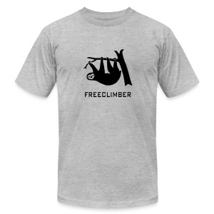 shirt sloth freeclimber climbing freeclimbing boulder rock mountain mountains hiking rocks climber - Men's Fine Jersey T-Shirt