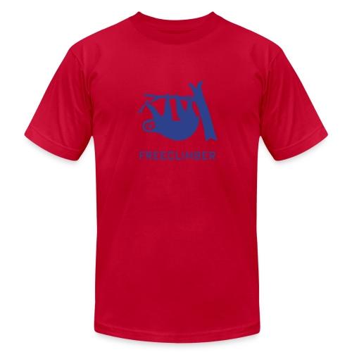 shirt sloth freeclimber climbing freeclimbing boulder rock mountain mountains hiking rocks climber - Men's Fine Jersey T-Shirt