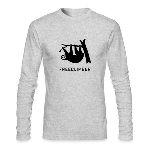 shirt sloth freeclimber climbing freeclimbing boulder rock mountain mountains hiking rocks climber - Men's Long Sleeve T-Shirt by Next Level