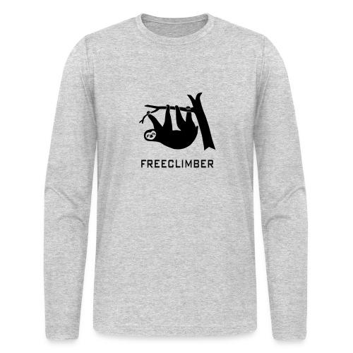 shirt sloth freeclimber climbing freeclimbing boulder rock mountain mountains hiking rocks climber - Men's Long Sleeve T-Shirt by Next Level