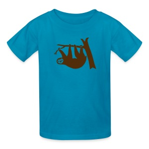 shirt sloth freeclimber climbing freeclimbing boulder rock mountain mountains hiking rocks climber - Kids' T-Shirt