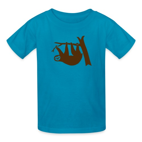 shirt sloth freeclimber climbing freeclimbing boulder rock mountain mountains hiking rocks climber - Kids' T-Shirt