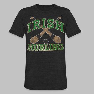 Irish Hurling - Unisex Tri-Blend T-Shirt by American Apparel