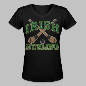 Irish Hurling - Women's V-Neck T-Shirt
