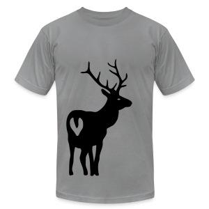 t-shirt stag deer moose elk antler antlers horn horns cervine hart bachelor party hunting hunter - Men's Fine Jersey T-Shirt