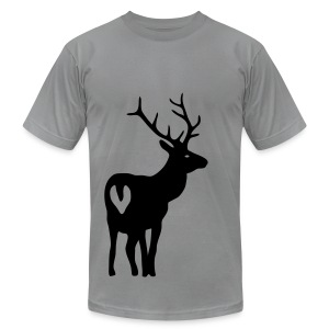 t-shirt stag deer moose elk antler antlers horn horns cervine hart bachelor party hunting hunter - Men's T-Shirt by American Apparel