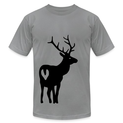 t-shirt stag deer moose elk antler antlers horn horns cervine hart bachelor party hunting hunter - Men's Fine Jersey T-Shirt