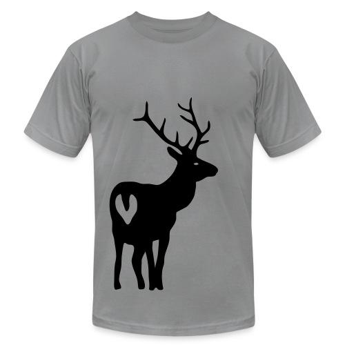 t-shirt stag deer moose elk antler antlers horn horns cervine hart bachelor party hunting hunter - Men's Jersey T-Shirt