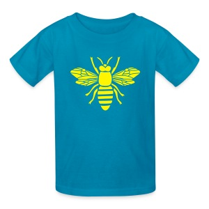 shirt bee i love honey bumble bee honeycomb beekeeper wasp sting busy insect wings wildlife animal - Kids' T-Shirt