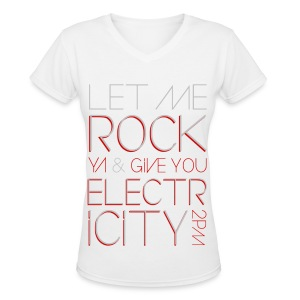 [2PM] Give You Electricity - Women's V-Neck T-Shirt