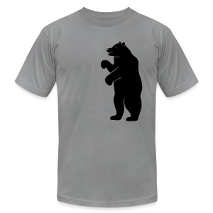 t-shirt bear beer berlin  strong hunter hunting wilderness grizzly predator animal t-shirt - Men's T-Shirt by American Apparel