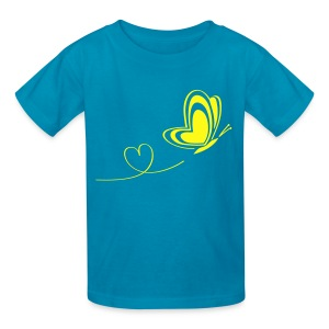 t-shirt butterfly love heart wings insect - Kids' T-Shirt