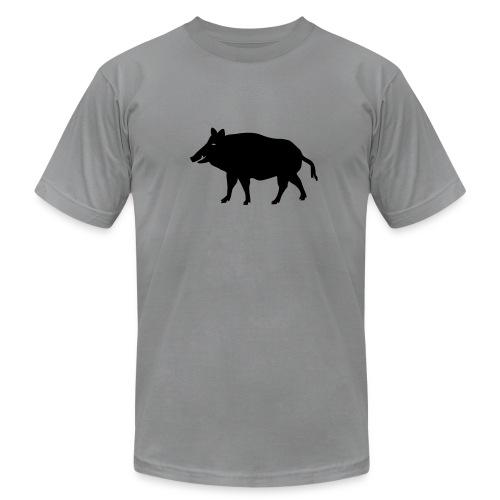 t-shirt wild boar hunter hunting forest animals nature pig rookie shoat - Men's Fine Jersey T-Shirt