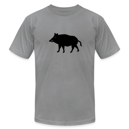 t-shirt wild boar hunter hunting forest animals nature pig rookie shoat - Men's Fine Jersey T-Shirt