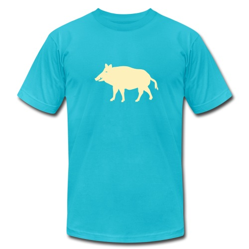 t-shirt wild boar hunter hunting forest animals nature pig rookie shoat - Men's  Jersey T-Shirt