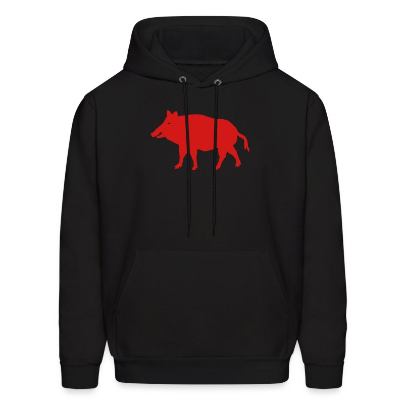 t-shirt wild boar hunter hunting forest animals nature pig rookie shoat - Men's Hoodie