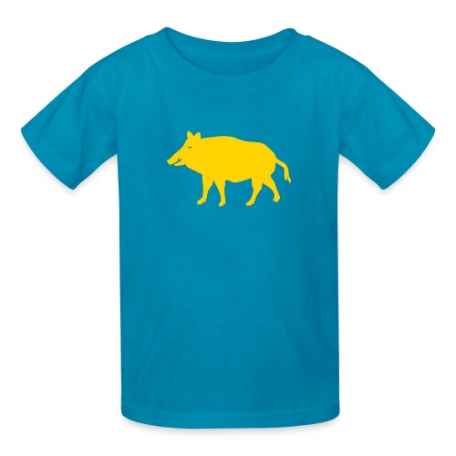 t-shirt wild boar hunter hunting forest animals nature pig rookie shoat - Kids' T-Shirt