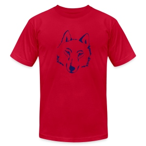 t-shirt wolf pack wolves howling wild animal - Men's T-Shirt by American Apparel