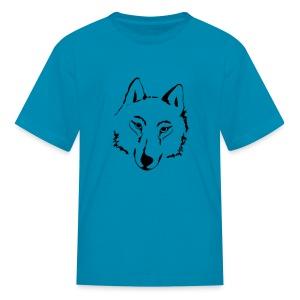 t-shirt wolf pack wolves howling wild animal - Kids' T-Shirt