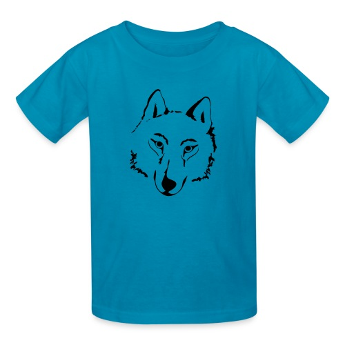 t-shirt wolf pack wolves howling wild animal - Kids' T-Shirt