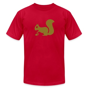 t-shirt squirrel acorn chipmunk tree forest animal - Men's T-Shirt by American Apparel