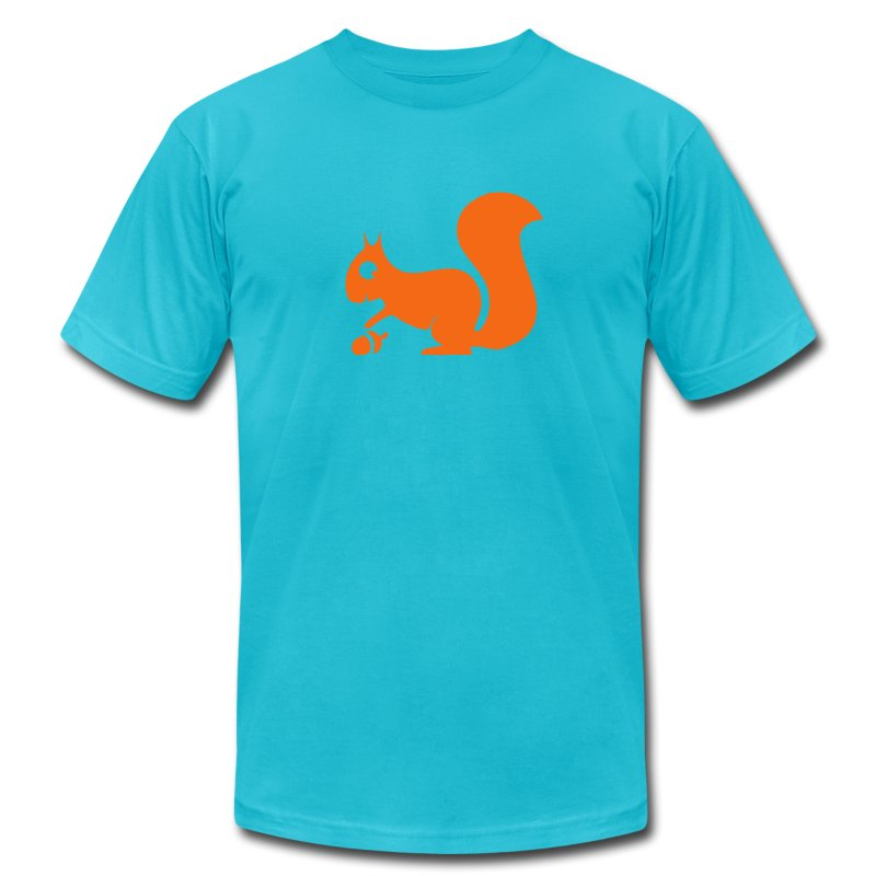 t-shirt squirrel acorn chipmunk tree forest animal - Men's Fine Jersey T-Shirt