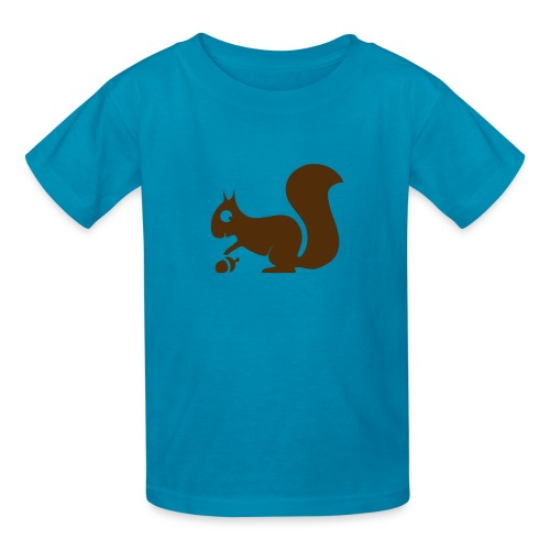 t-shirt squirrel acorn chipmunk tree forest animal - Kids' T-Shirt
