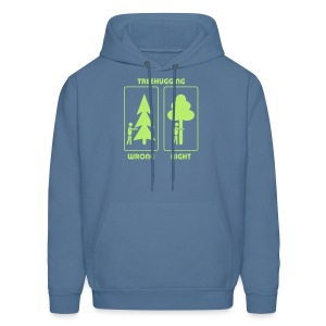 t-shirt treehugging tree hug treehugger trees forest natur - Men's Hoodie