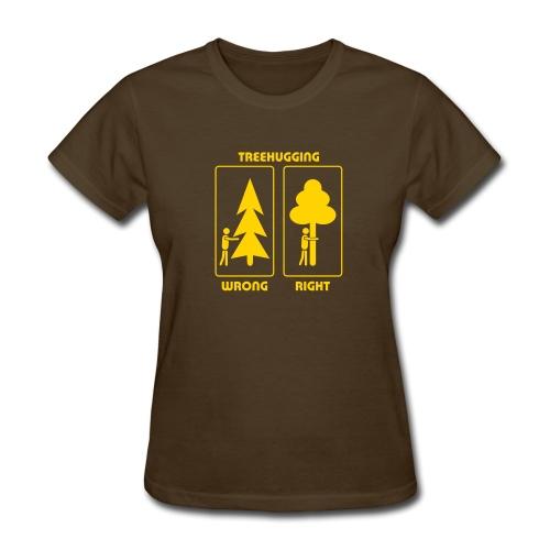 t-shirt treehugging tree hug treehugger trees forest natur - Women's T-Shirt