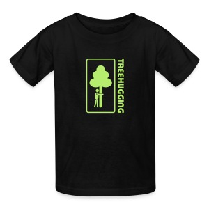 t-shirt treehugging tree hug treehugger trees forest natur - Kids' T-Shirt
