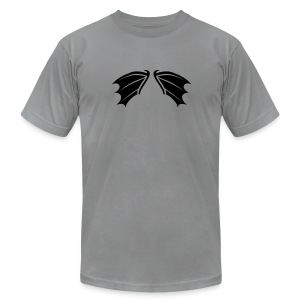 t-shirt bat wings vampire night halloween dracula blood - Men's T-Shirt by American Apparel