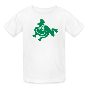 t-shirt frog princess prince kiss me toad squib paddock pout frogmouth mouth lips - Kids' T-Shirt
