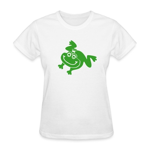t-shirt frog princess prince kiss me toad squib paddock pout frogmouth mouth lips - Women's T-Shirt
