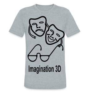 3D Imagination - Unisex Tri-Blend T-Shirt by American Apparel