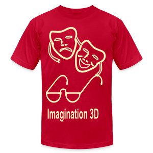 3D Imagination - Men's T-Shirt by American Apparel