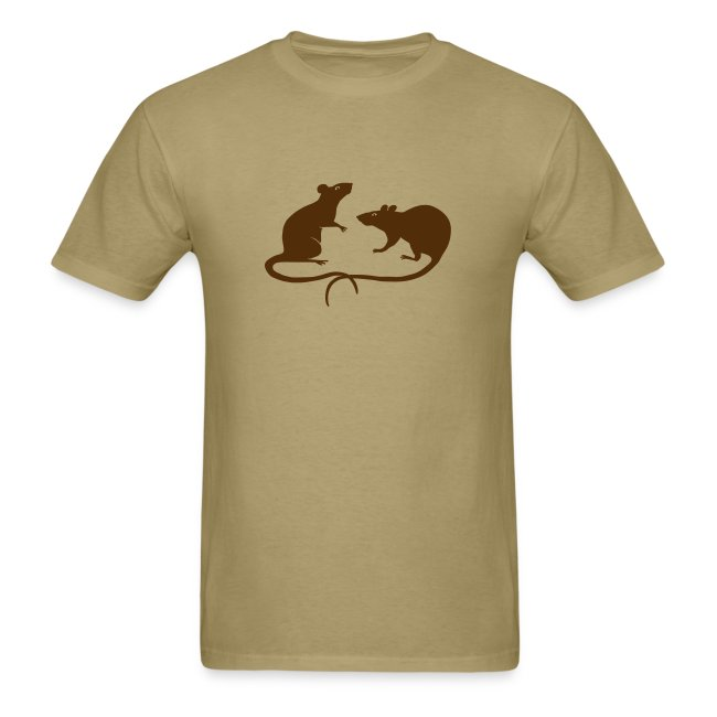 t-shirt rat rats duo ratty mouse mice animal