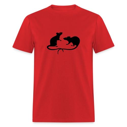 t-shirt rat rats duo ratty mouse mice animal - Men's T-Shirt