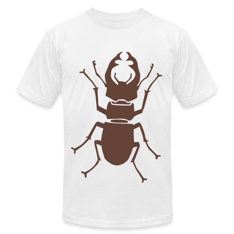 t-shirt stag beetle deer moose elk antler antlers insect stag night bachelor party - Men's T-Shirt by American Apparel