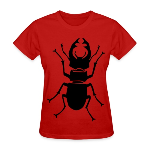 t-shirt stag beetle deer moose elk antler antlers insect stag night bachelor party - Women's T-Shirt