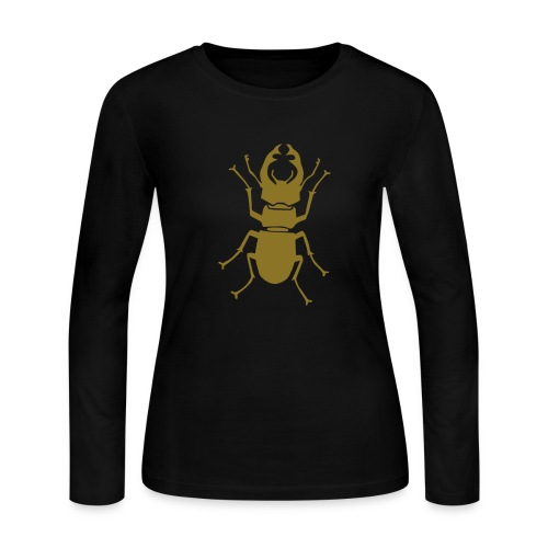 t-shirt stag beetle deer moose elk antler antlers insect stag night bachelor party - Women's Long Sleeve Jersey T-Shirt