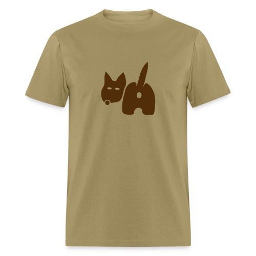 t-shirt dog ass wave tail behind comic petblow dog t-shirt - Men's T-Shirt