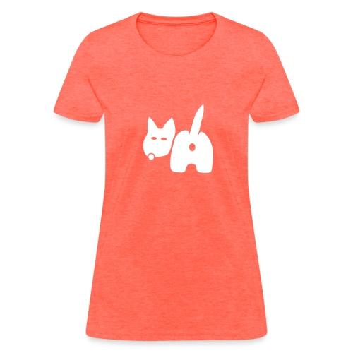 t-shirt dog ass wave tail behind comic petblow dog t-shirt - Women's T-Shirt