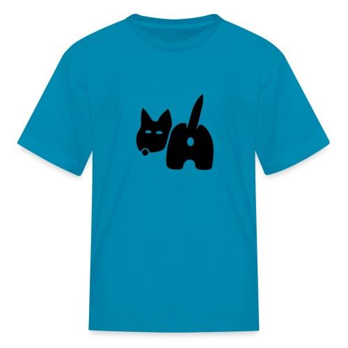 t-shirt dog ass wave tail behind comic petblow dog t-shirt - Kids' T-Shirt