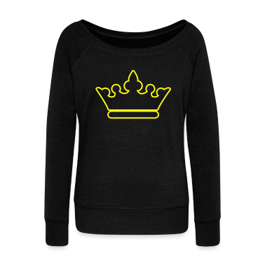 crown outline fancy for royalty Long Sleeve Shirts