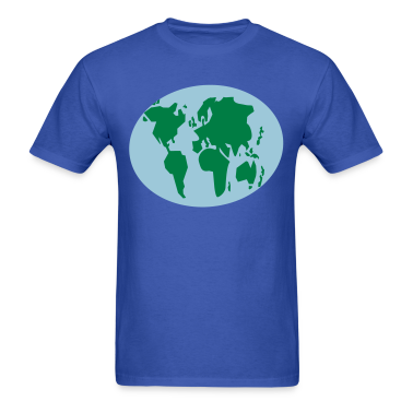 simple simple world map GLOBE T-Shirts